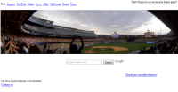 Baseball Stadium search homepage