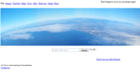 Curved earth photo homepage